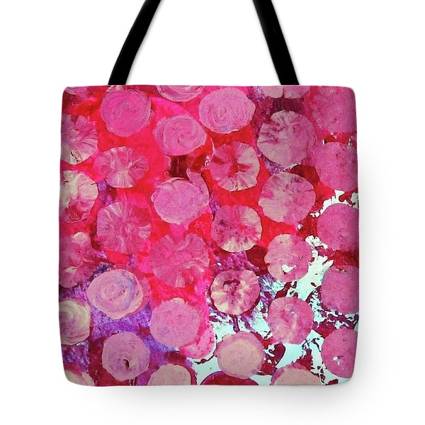 Tote Bag featuring the mixed media Bubbles by Mary Ellen Frazee