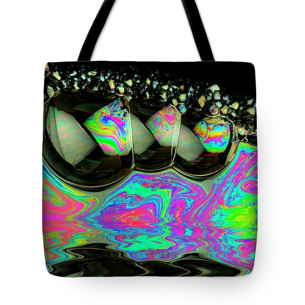 Tote Bag featuring the photograph Bubbles Redux by Jean Noren