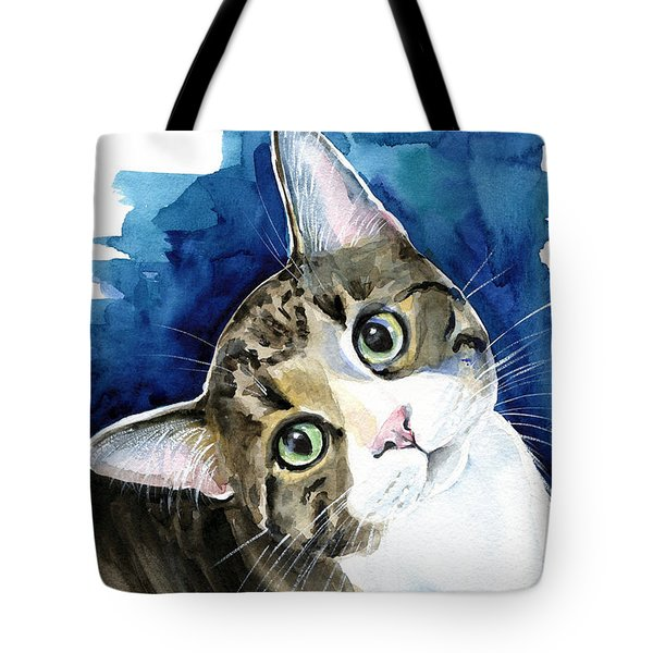 Bubbles - Tabby Cat Painting Tote Bag