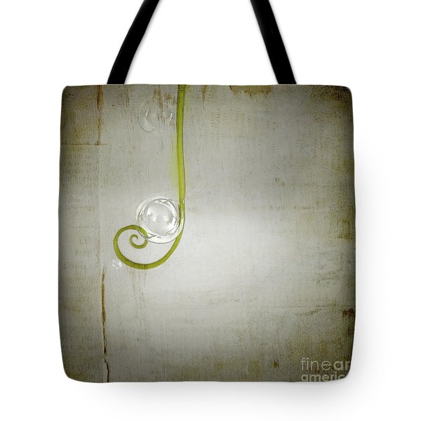 Tote Bag featuring the digital art Bubbling - 02tt04a by Variance Collections