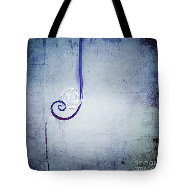 Tote Bag featuring the digital art Bubbling - 033a by Variance Collections