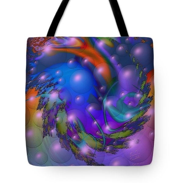 Bubbling Over With Enthusiasim Tote Bag by Kevin Caudill