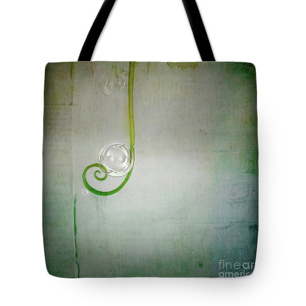 Tote Bag featuring the digital art Bubbling -  S24aabbcc by Variance Collections