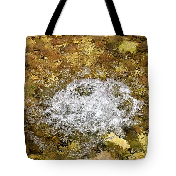 Bubbling Water In Rock Fountain Tote Bag