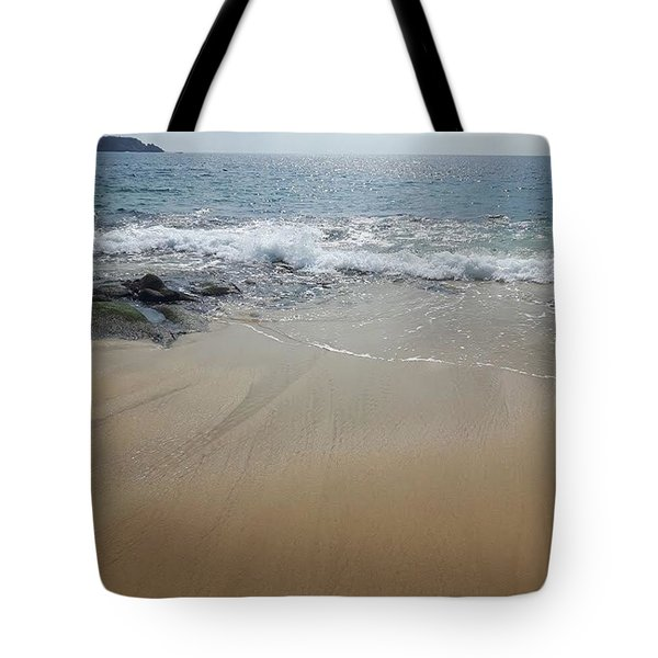 Tote Bag featuring the photograph Bubbly Wading by Cindy Charles Ouellette