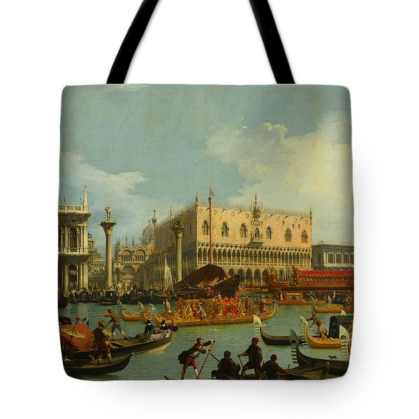 Bucentaur's Return To The Pier By The Palazzo Ducale Tote Bag