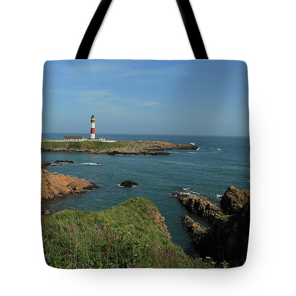 Buchan Ness Lighthouse And The North Sea Tote Bag
