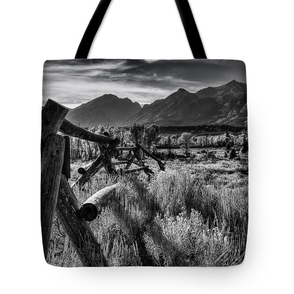 Buck And Rail To The Tetons Tote Bag