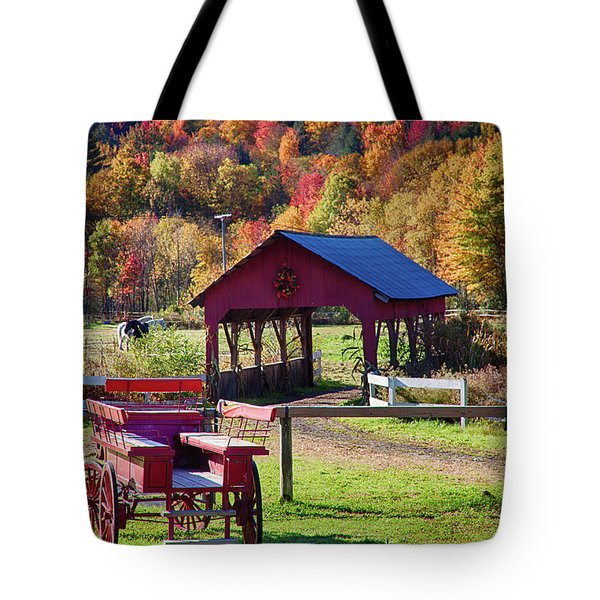 Tote Bag featuring the photograph Buck Board Ready For Fall Colors by Jeff Folger
