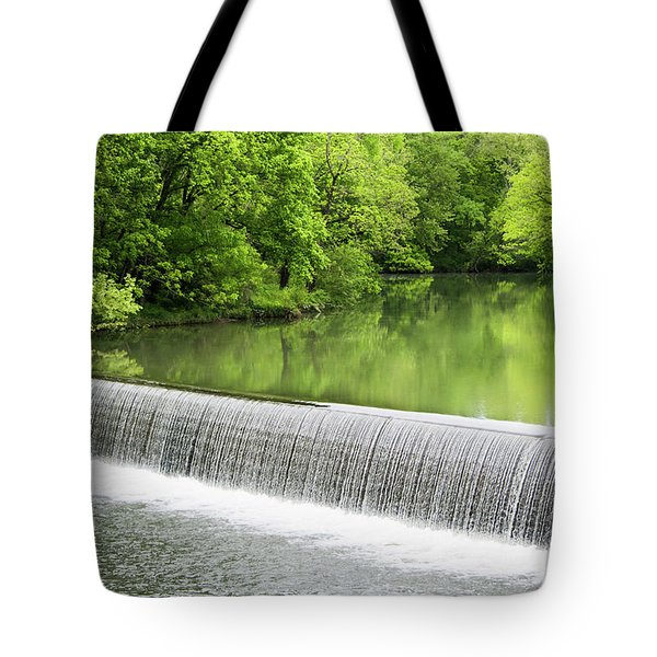 Tote Bag featuring the photograph Buck Creek Greens by Parker Cunningham