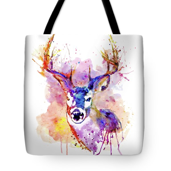 Tote Bag featuring the mixed media Buck by Marian Voicu