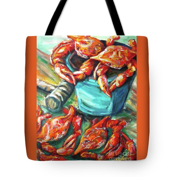 Bucket O Crabs Tote Bag
