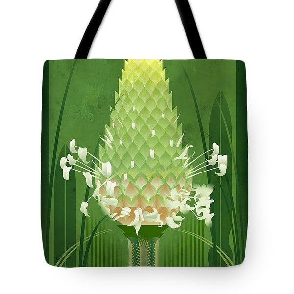 Plantain Buckhorn Floral Poster Tote Bag