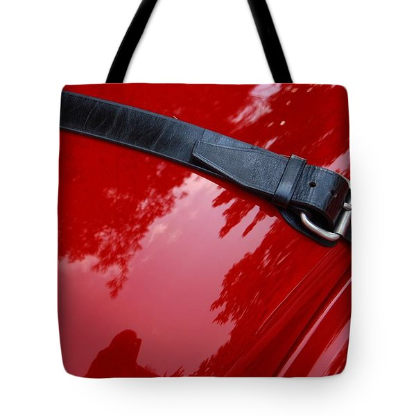 Tote Bag featuring the photograph Buckle Up by John Schneider