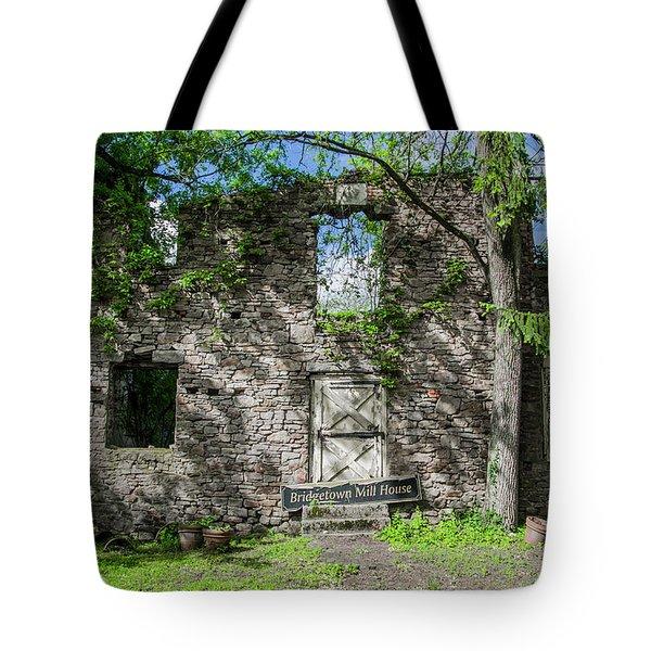 Bucks County Ruin - Bridgetown Mill House Tote Bag by Bill Cannon
