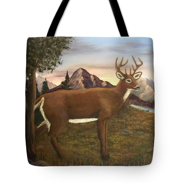 Buck's Wilderness Tote Bag by Sheri Keith
