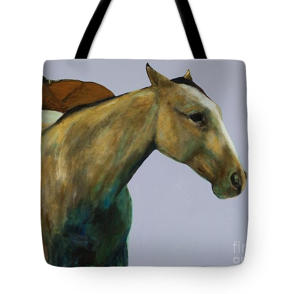 Buckskin Tote Bag by Frances Marino