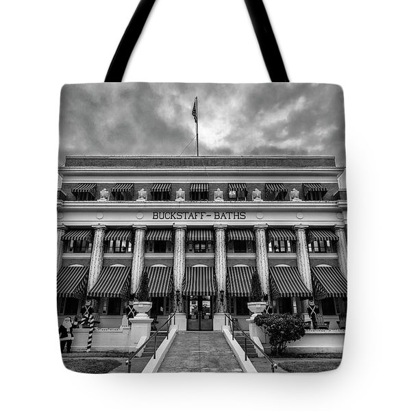 Tote Bag featuring the photograph Buckstaff Baths - Bw by Stephen Stookey