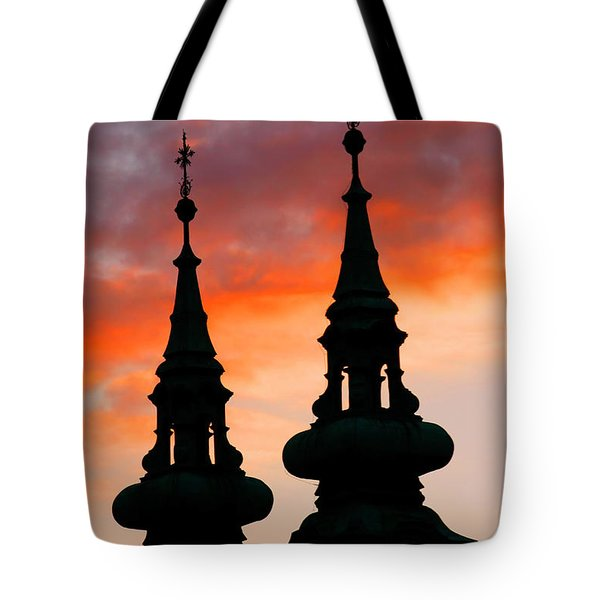 Tote Bag featuring the photograph Budapest Sunset by KG Thienemann