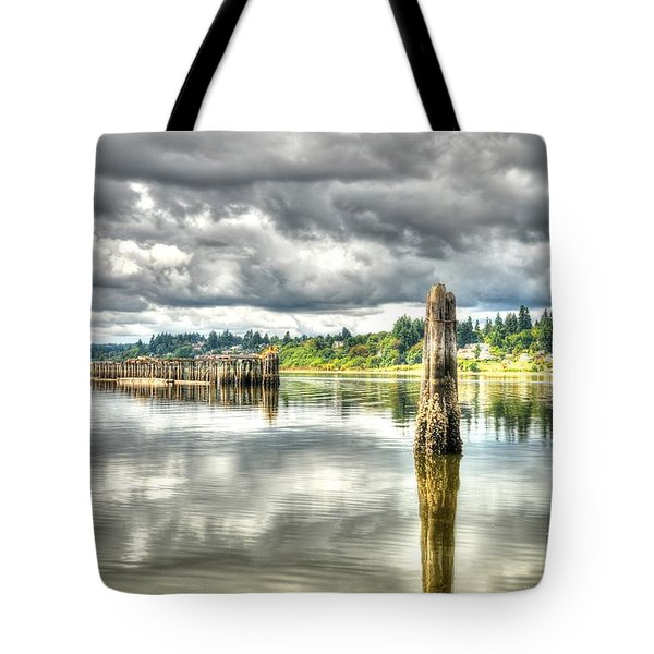 Budd Bay Piers Tote Bag