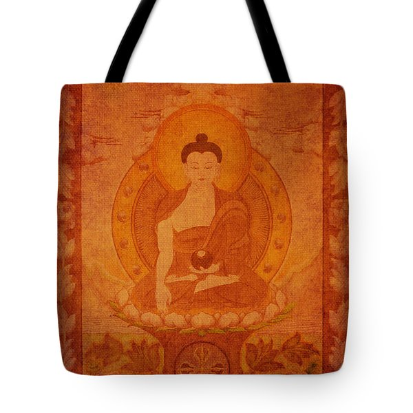 Buddha Antique Tapestry Tote Bag