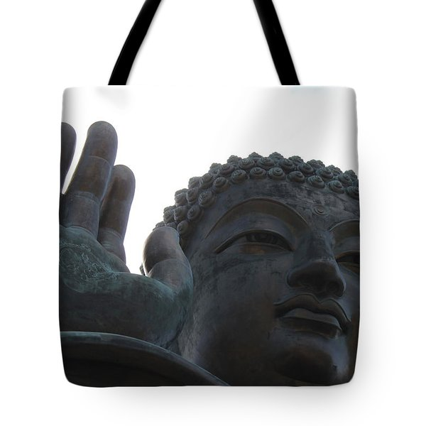 Buddha At Ngong Ping Village, Hong Kong Tote Bag