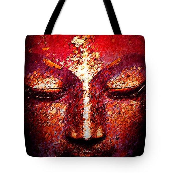 Buddha  Face Tote Bag