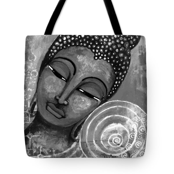 Buddha In Grey Tones Tote Bag