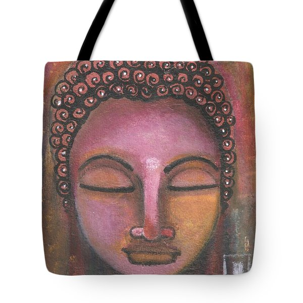 Buddha In Shades Of Purple Tote Bag