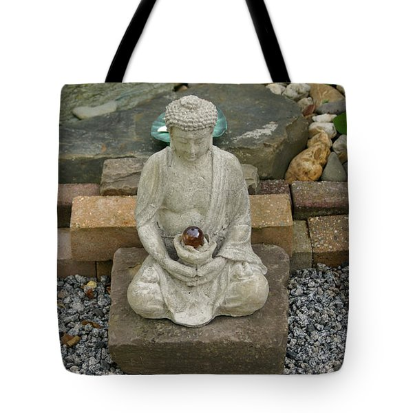Buddha In The Garden Tote Bag