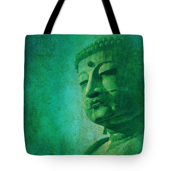 Tote Bag featuring the digital art Buddha by John Wills