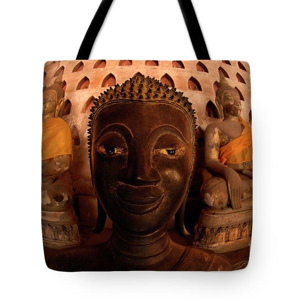 Buddha Laos 1 Tote Bag by Bob Christopher