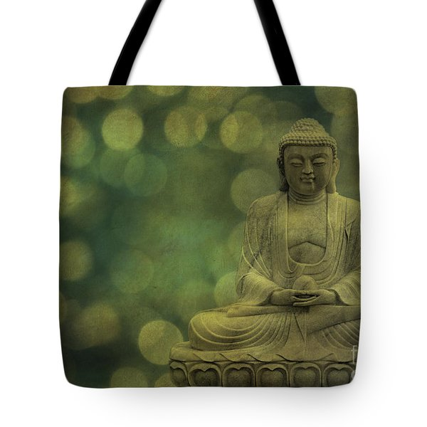 Buddha Light Gold Tote Bag