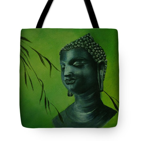 Tote Bag featuring the painting Buddha by Lynn Hughes