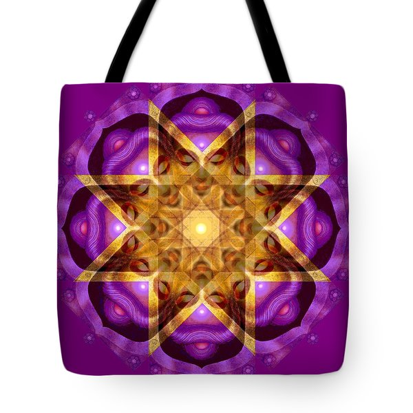 Tote Bag featuring the painting Buddha Mandala by Sue Halstenberg