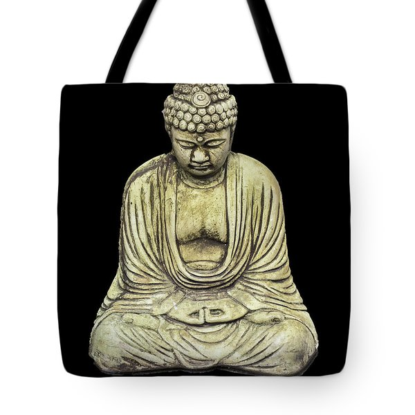 Buddha On Black Tote Bag