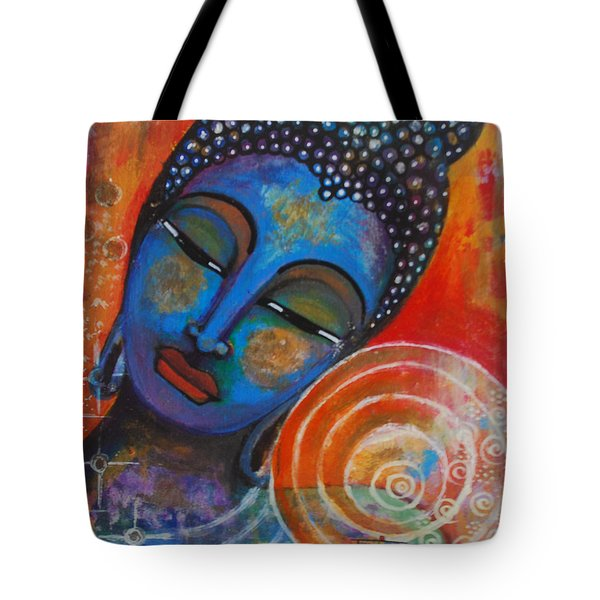 Tote Bag featuring the painting Buddha by Prerna Poojara