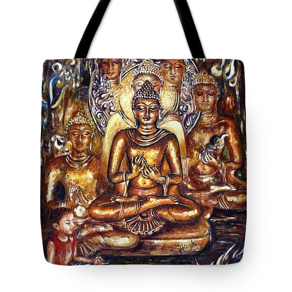 Buddha Reflections Tote Bag by Harsh Malik