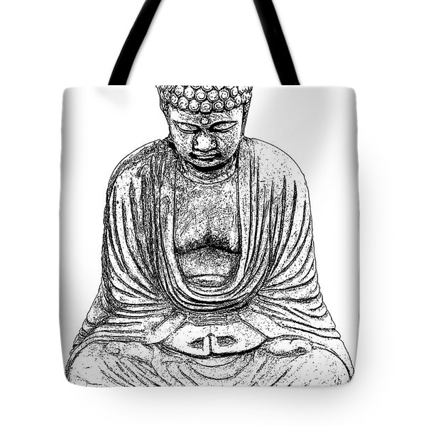 Buddha Sketch Tote Bag