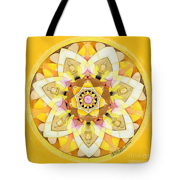 Buddha Sun Mandala Tote Bag