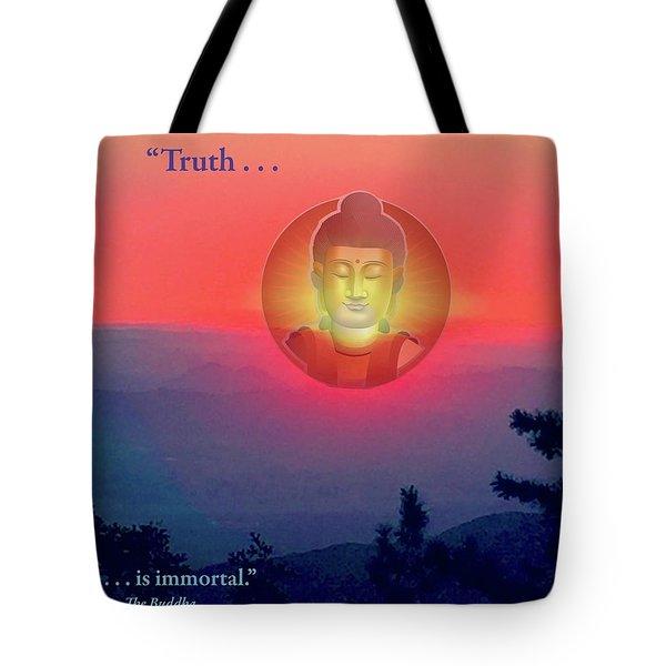 Buddha Sunset Tote Bag by Jack Eadon