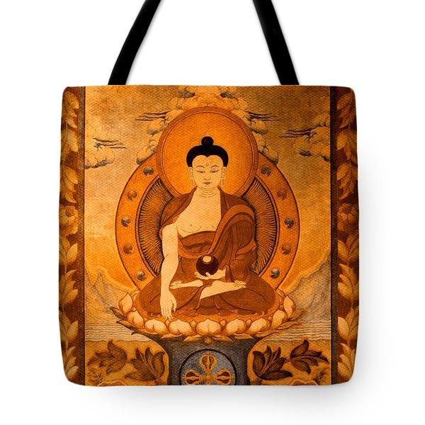 Buddha Thangka Gold Tote Bag