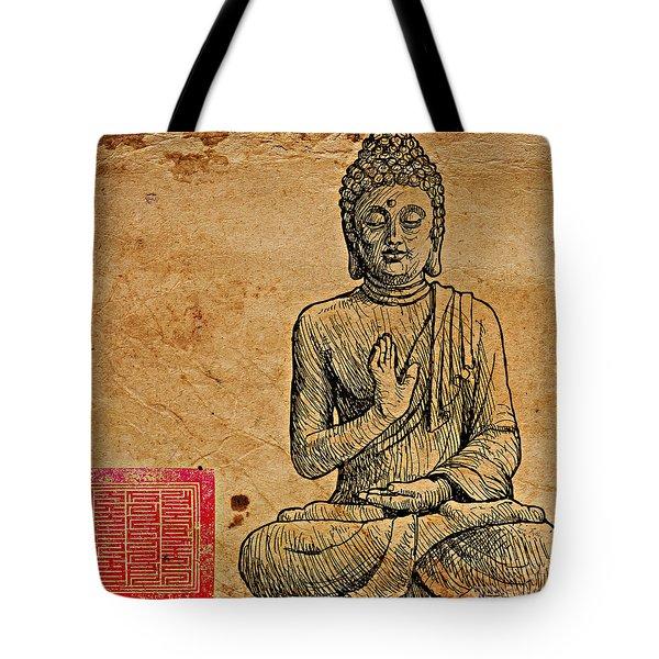 Buddha The Minimalist Tote Bag