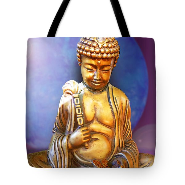 Buddha With Butterfly Tote Bag