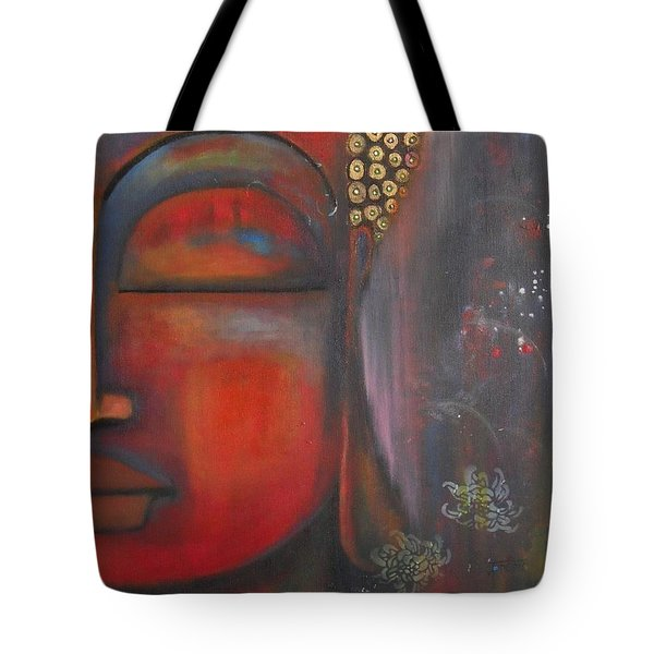 Buddha With Floating Lotuses Tote Bag