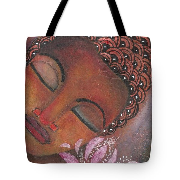 Buddha With Pink Lotus Tote Bag