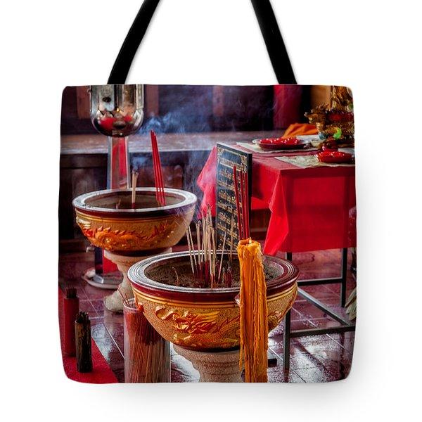 Buddhist Incense Tote Bag
