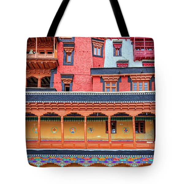 Tote Bag featuring the photograph Buddhist Monastery Building by Alexey Stiop