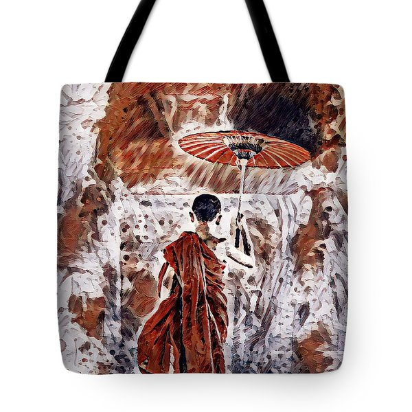 Buddhist Monk Tote Bag