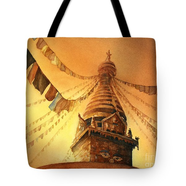 Buddhist Stupa- Nepal Tote Bag by Ryan Fox